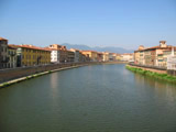 Arno River - Looking East from Ponte Solferino