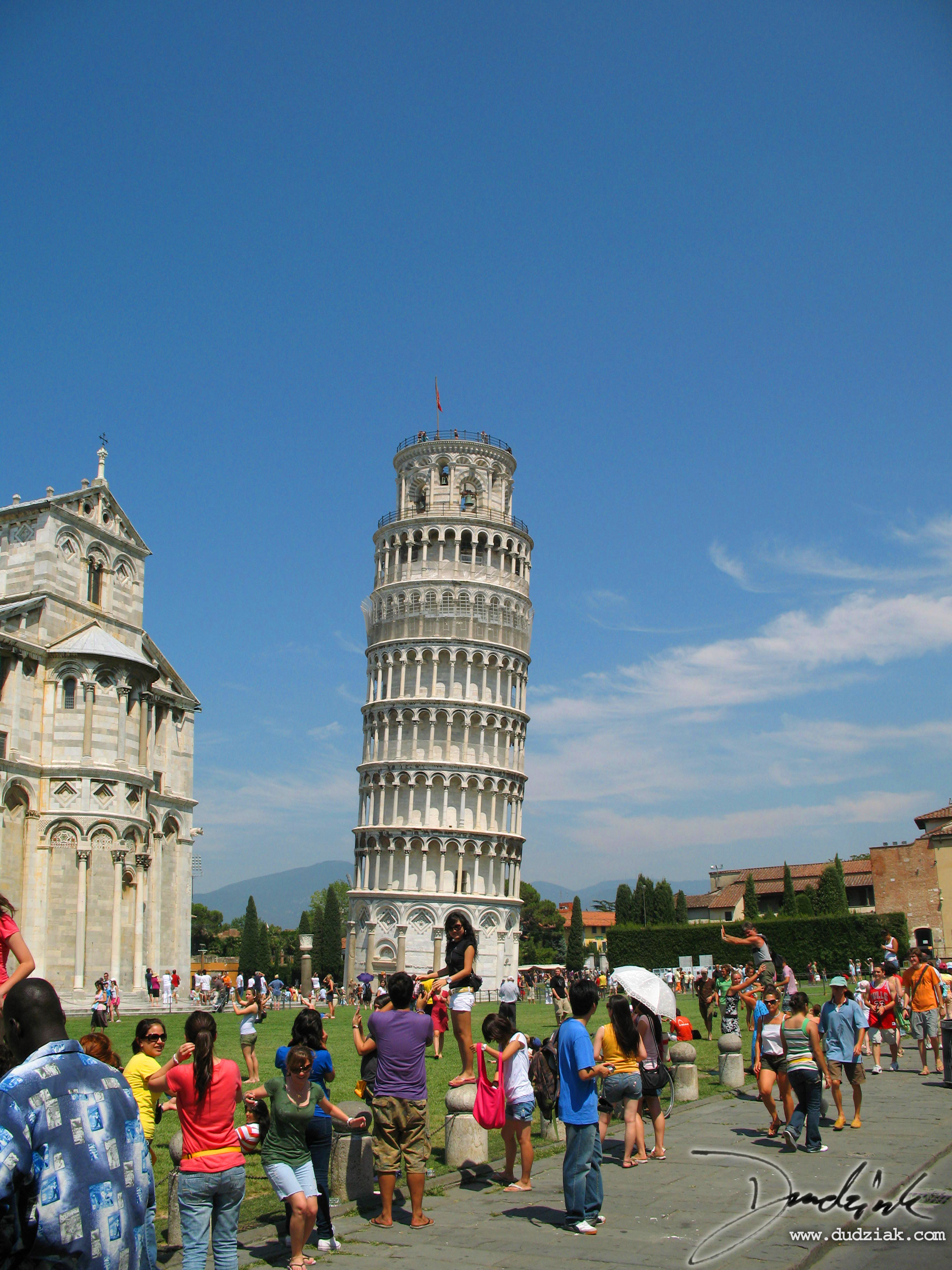 Field of Miracles with the Cathedral of Pisa and the Leaning Tower of Pisa.