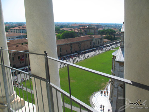 Field of Miracles as seen from the Middle Level of the Leaning Tower of Pisa.