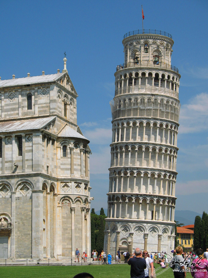 Cathedral of Pisa and Leaning Tower of Pisa.