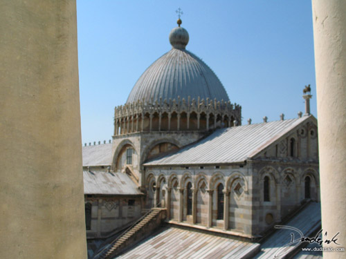 Cathedral of Pisa as seen from the Leaning Tower.
