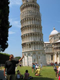 Holding up the Leaning Tower of Pisa - Eastern Face, Pisa, Italy