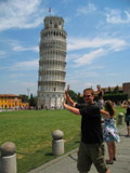 Holding up the Leaning Tower of Pisa - Western Face, Pisa, Italy