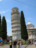 Eastern Side of the Leaning Tower of Pisa