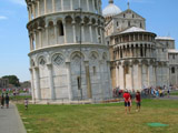 Eastern Side of the Base of the Leaning Tower of Pisa, Pisa, Italy