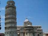 Eastern Side of the Leaning Tower of Pisa and Duomo