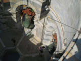 Looking Down Into the Bell Tower of the Leaning Tower of Pisa