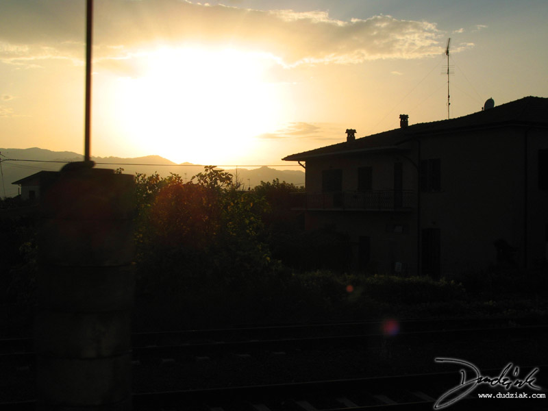 italian train,  Pisa Italy,  train,  milan Italy,  sunset
