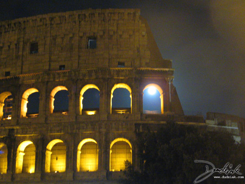 Roman Colosseum,  Flavian Amphitheatre,  Italy,  Roma,  Rome,  Roman Arch,  moon,  moonlight,  Colosseum,  night