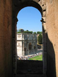 Arch of Constantine Seen from the Colosseum