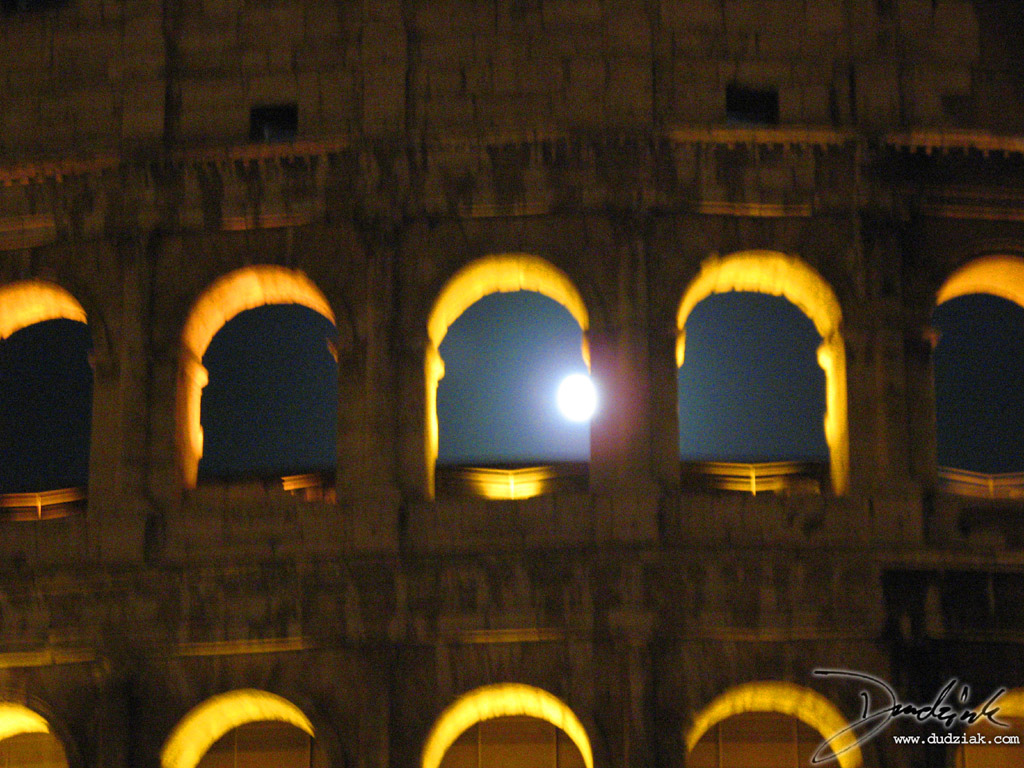 Roman Arch,  Roma,  Rome,  Italy,  Roman Colosseum,  night,  Colosseum,  moonlight,  Flavian Amphitheatre,  moon