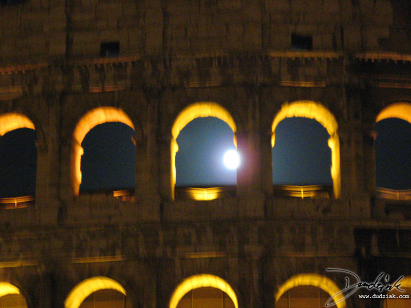 moon,  Rome,  Italy,  night,  Colosseum,  Roma,  Roman Colosseum,  Flavian Amphitheatre,  moonlight,  Roman Arch