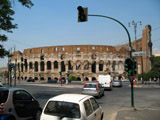 Colosseum from Via Claudia, Roman Colosseum
