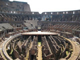 Inside the Colosseum Looking East