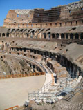 Inside the Colosseum Facing North West