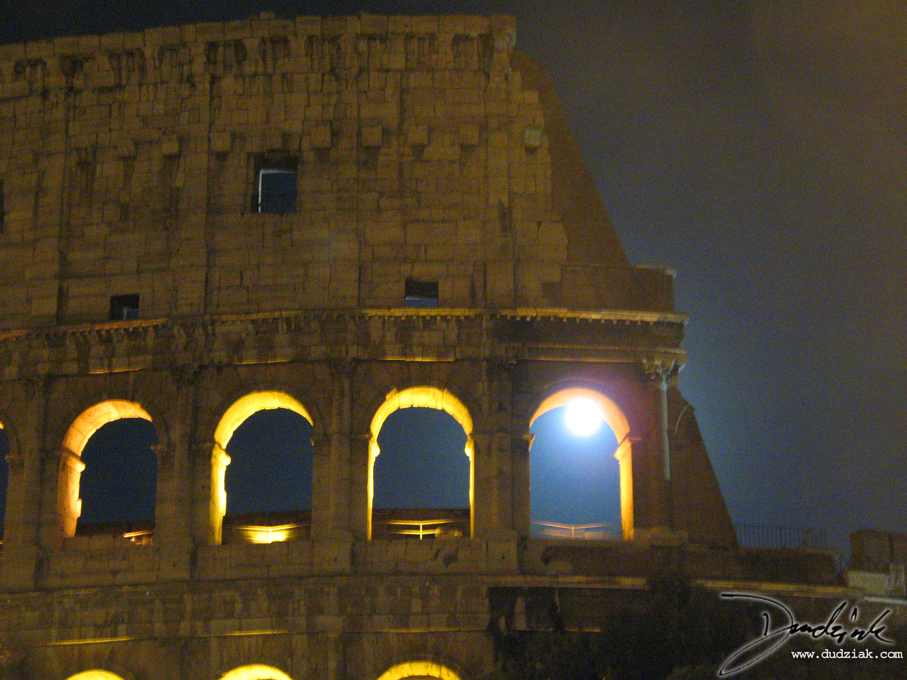 Colosseum,  night,  Italy,  Roma,  Rome,  moon,  Flavian Amphitheatre,  Roman Colosseum,  Roman Arch,  moonlight