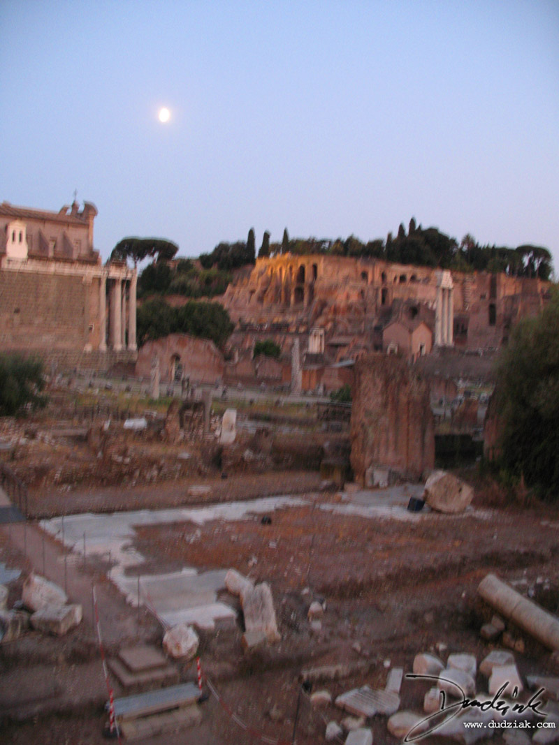 moonlight,  rome,  italy,  dusk,  roman forum