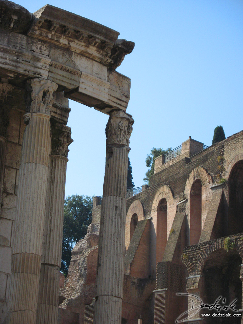 Picture of buildings from the Roman Forum in Rome, Italy.