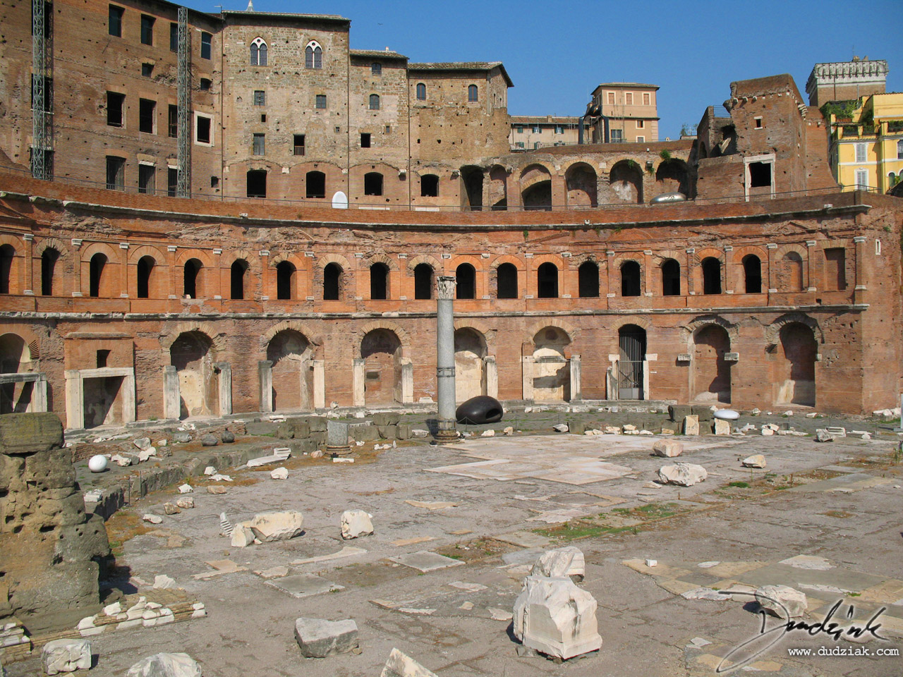 Picture of the Mercati Traianei (Trajan Markets) in Rome.