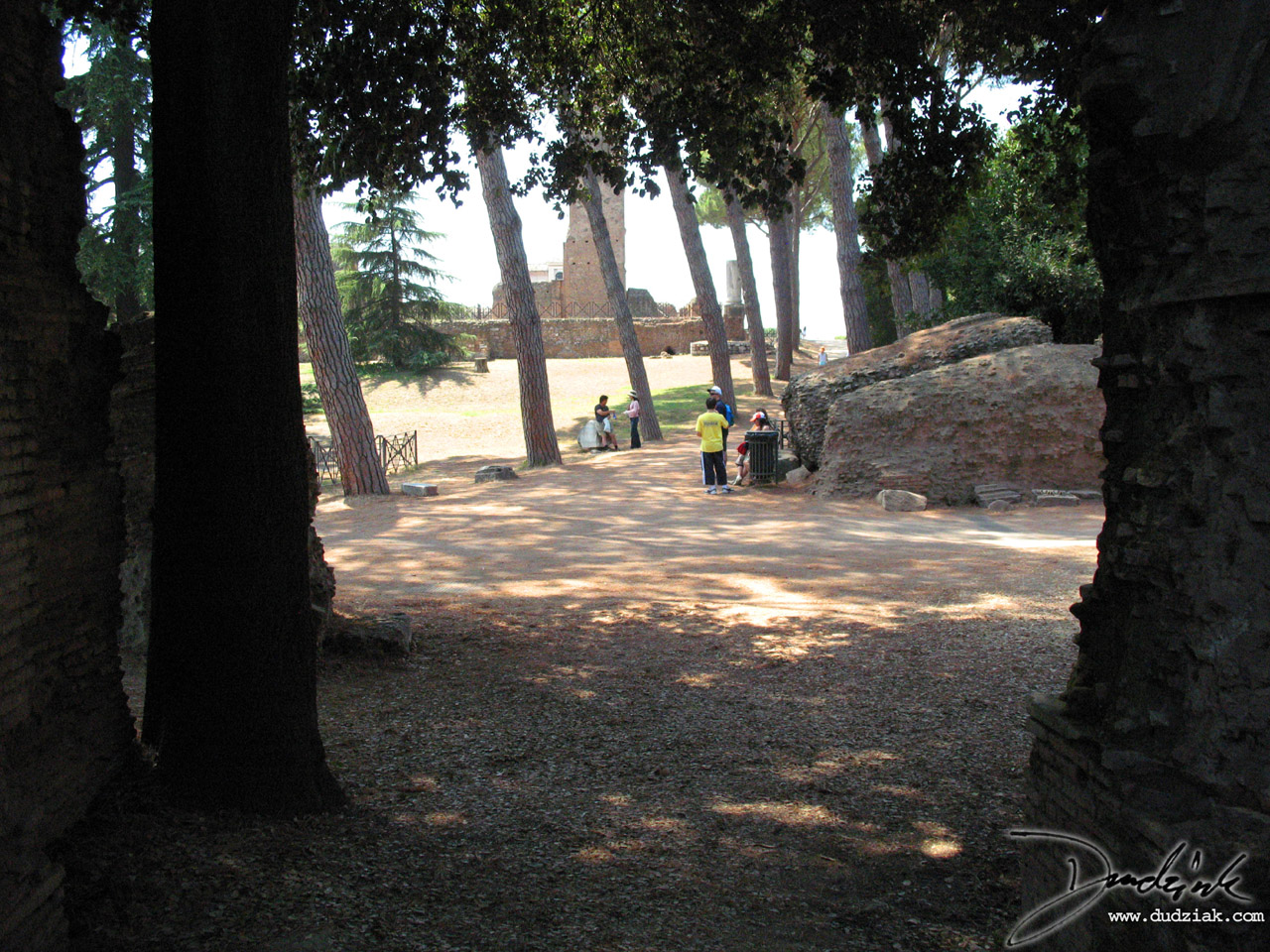 A casual stroll through the paths on the Palentine Hill in Rome, Italy.