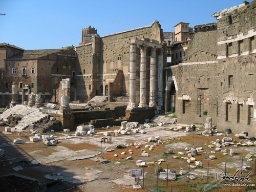 Picture of the Trajan Markets (Mercati Traianei) in Rome.