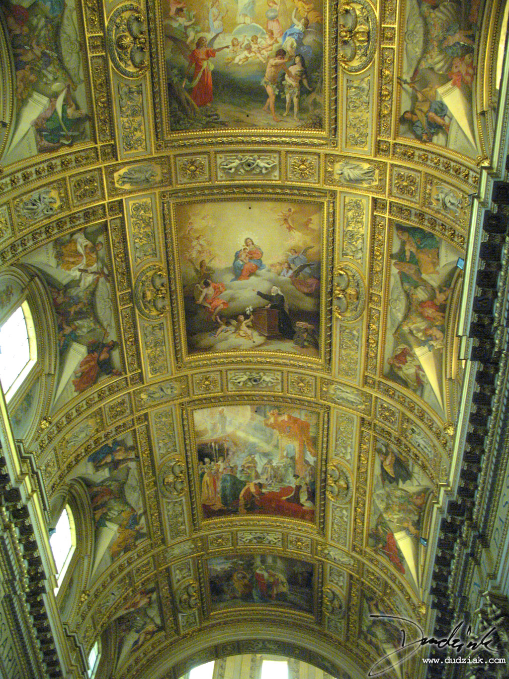 Rome,  Italy,  church,  Roma,  ceiling