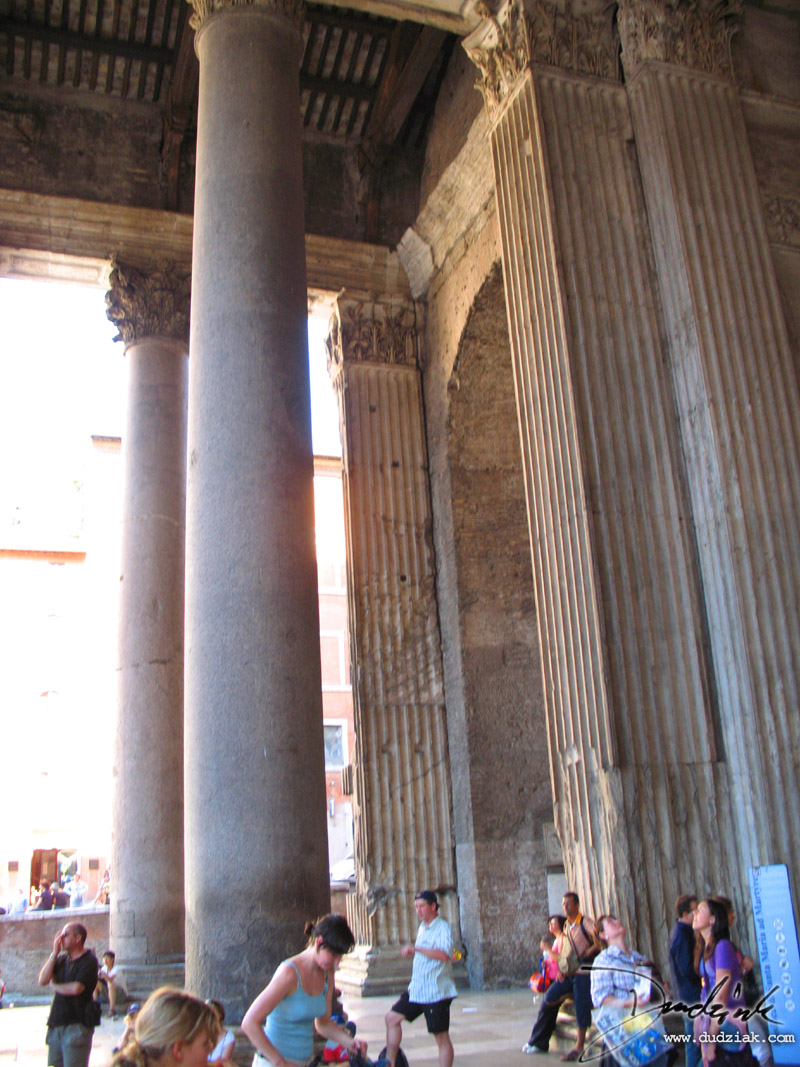 Roma,  Roman Pantheon,  Rome,  portico,  Italy,  Ancient rome