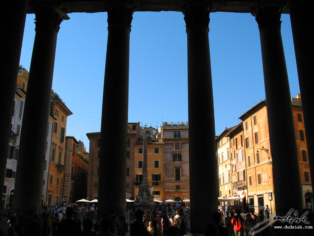 View from the Roman Pantheon portico.