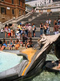 Barcaccia Fountain and the Spanish Steps