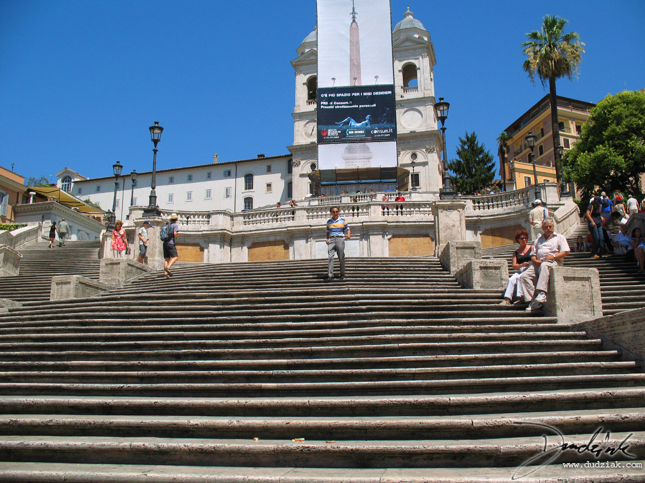 Picture of the Spanish Steps (Scalinata della Trinità dei Monti) in Rome, Italy.