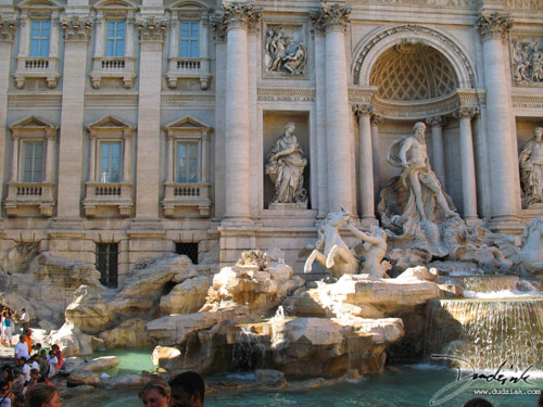 Picture of the Trevi Fountain (Fontana di Trevi) in Rome, Italy.
