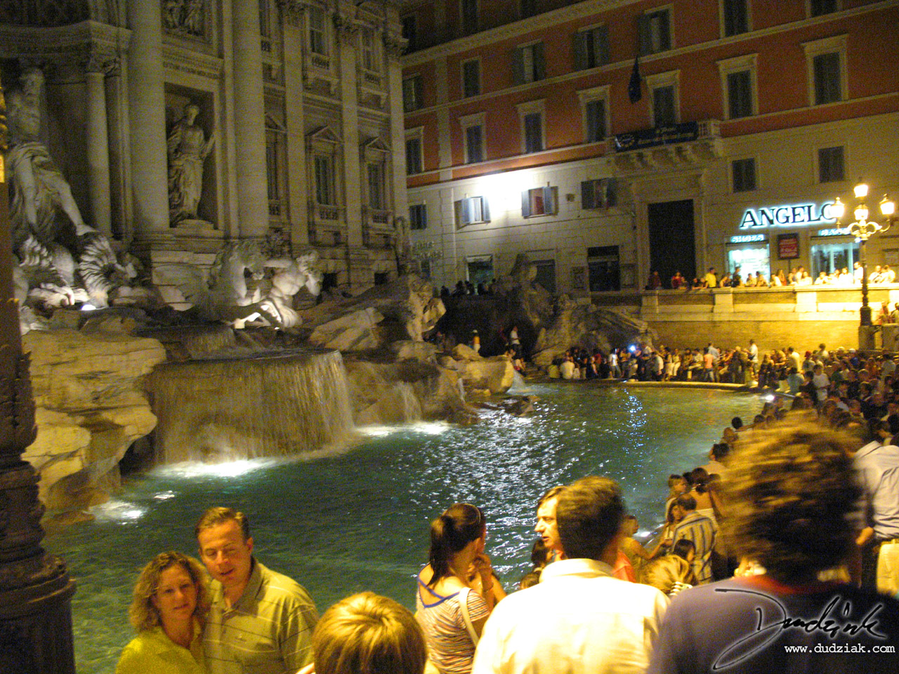 Picture of the Trevi Fountain (Fontana di Trevi) at nighttime in Rome, Italy.
