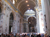 Inside Saint Peter's Basilica