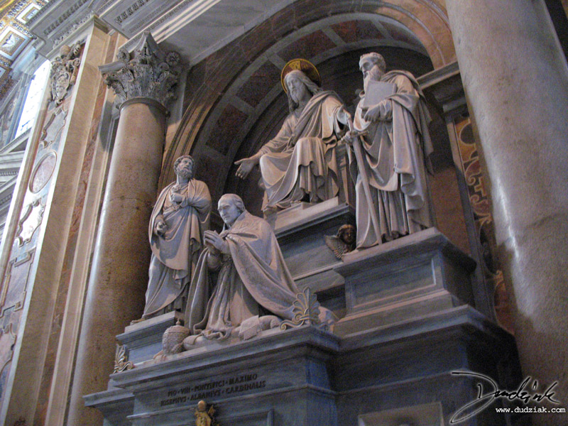 Statues of Jesus and three deciples in Saint Peter's Basilica.