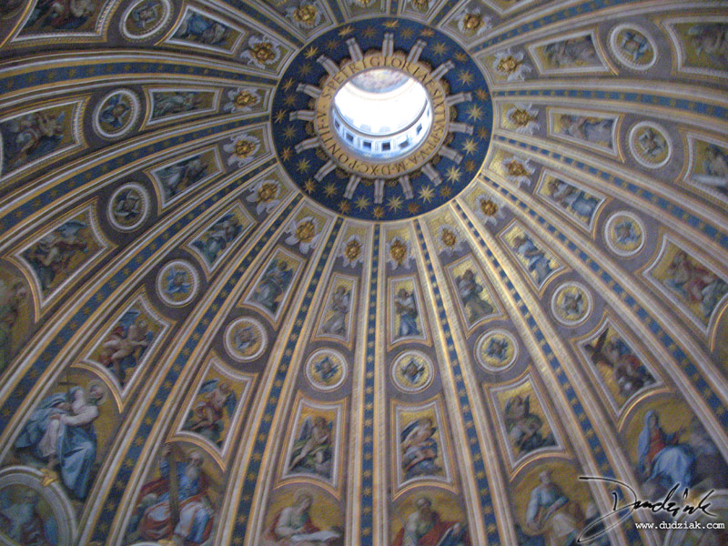 Interior dome of Saint Peter's Basilica