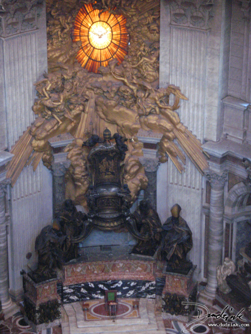 Chair of Saint Peter in Saint Peter's Basilica in the Vatican City.
