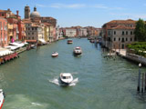 Crossing the Grand Canal via Ponte degli Scalzi After Ariving