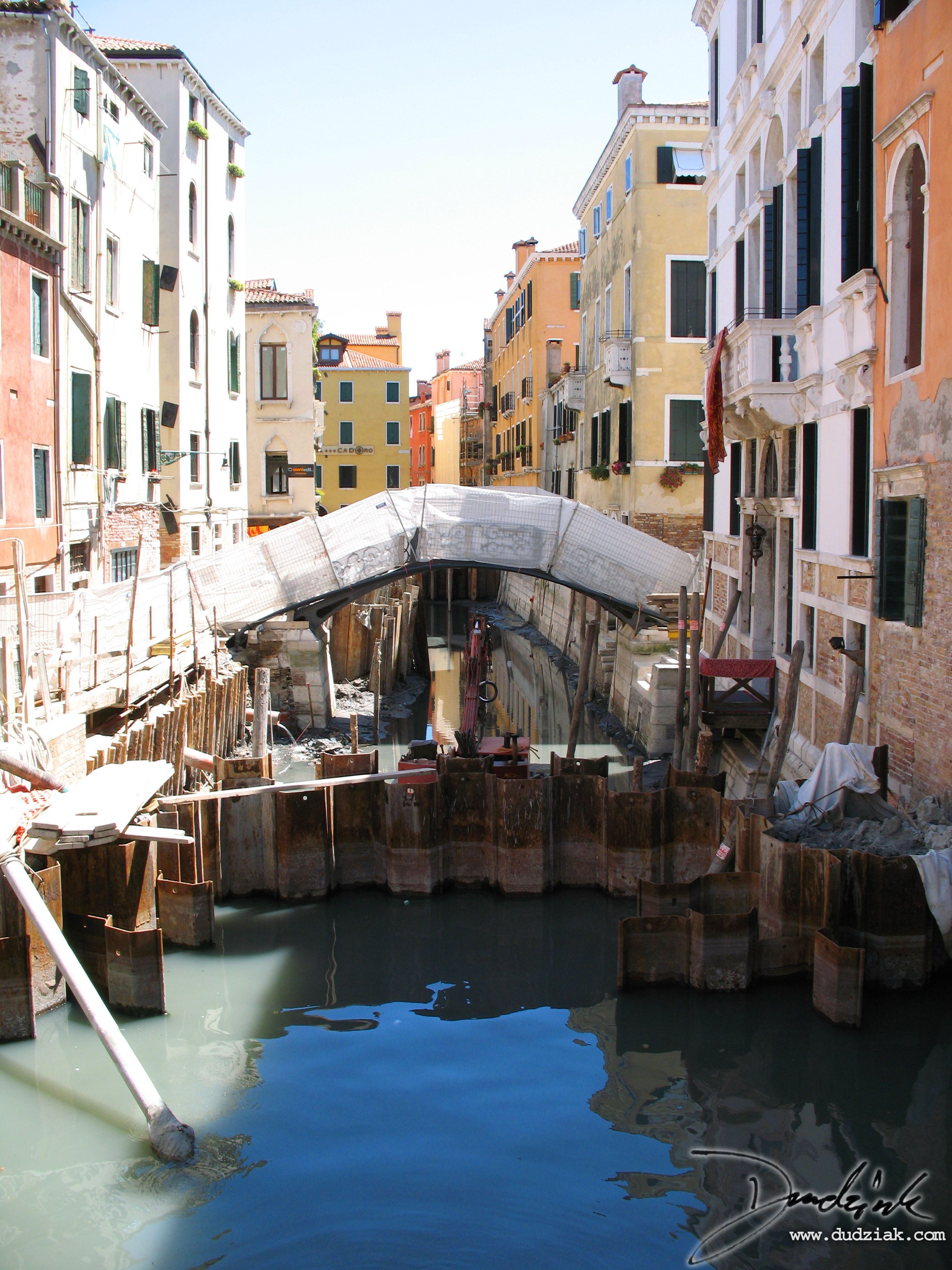 venice,  canal repair,  italy,  canal