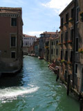 Rio di Ca' Foscari Looking East from Campo san Pantalon, Venice, Italy