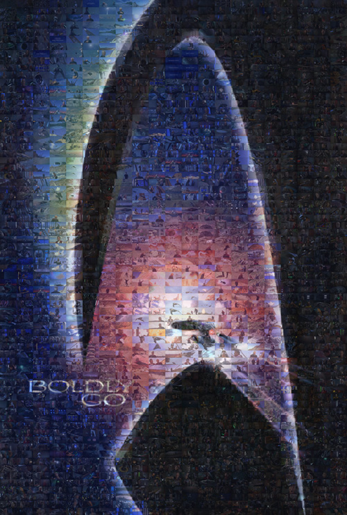 Picture of a Star Trek Generations poster mosaic.