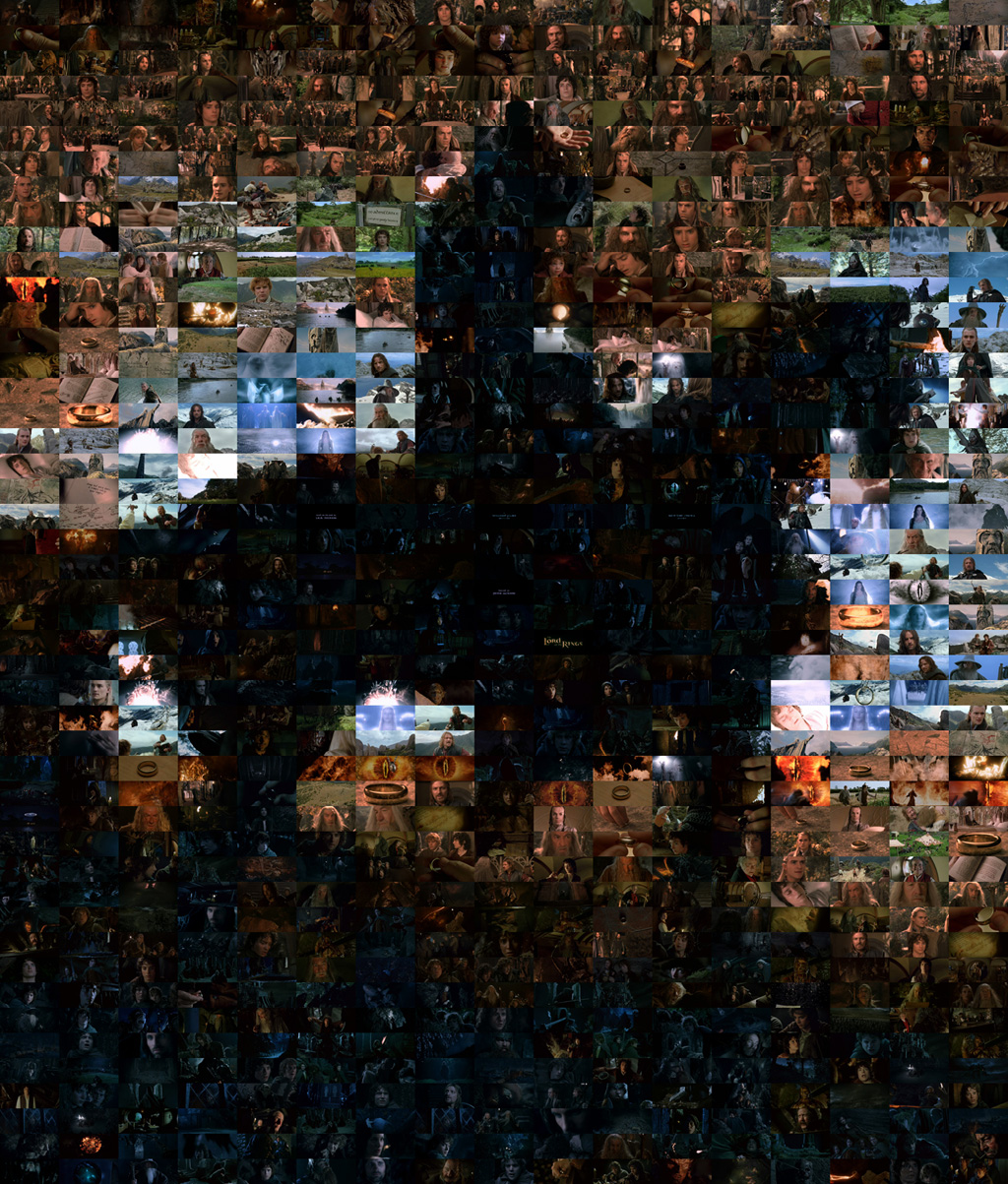 Picture of a Lord of the Ring Ringwraith Mosaic.