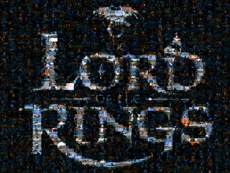 Picture of a Lord of the Rings mosaic