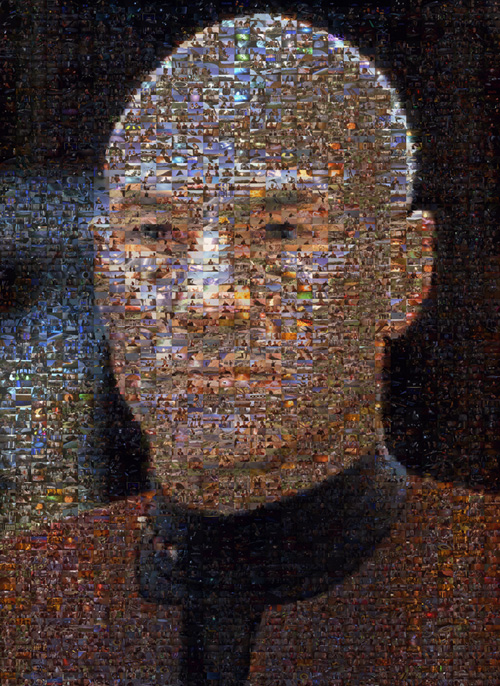 Picture of a Captain Picard mosaic.